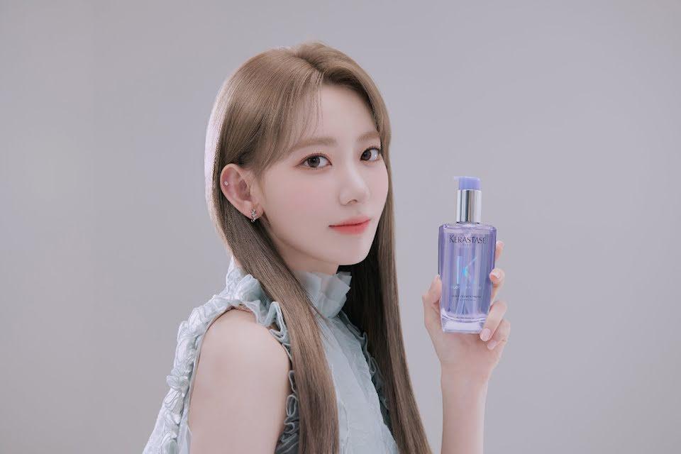 Japan model for Kérastase haircare's Blond Absolu line.