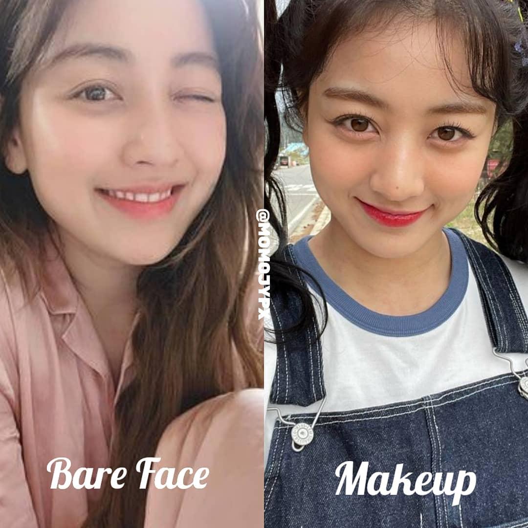 Ji Hyo thường xuyên bị trang điểm bọng mắt sưng húp, kém tự nhiên hơn cả khi để mặt mộc.