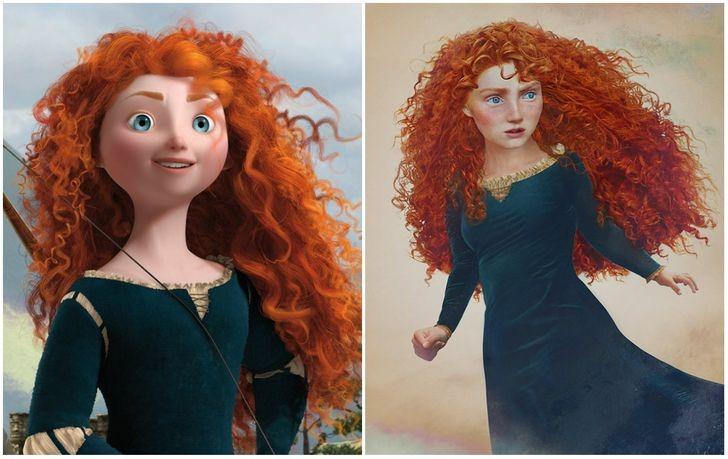 Công chúa tóc xù Merida.