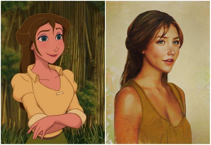 Jane trong phim Tarzan.