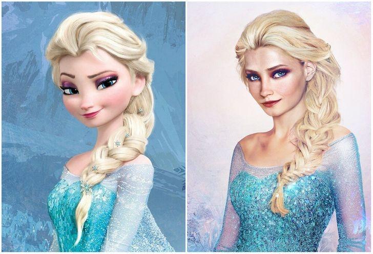 Nữ hoàng băng giá Elsa.