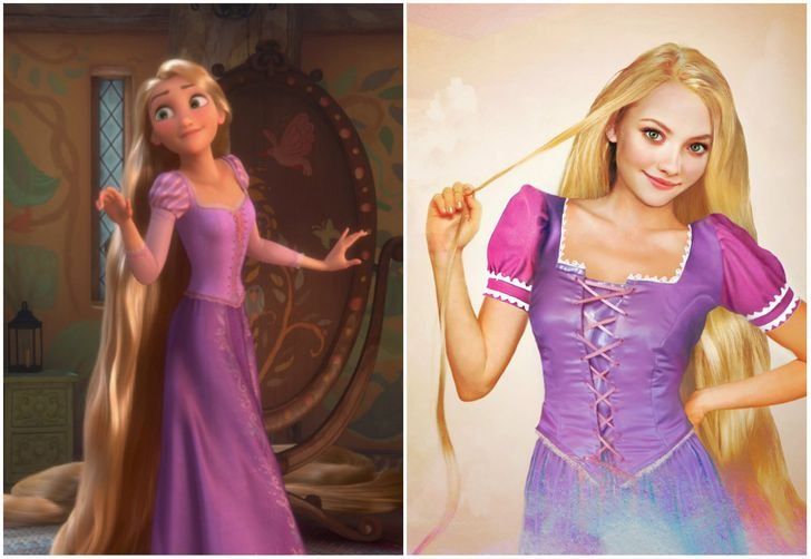Công chúa tóc mây Rapunzel.