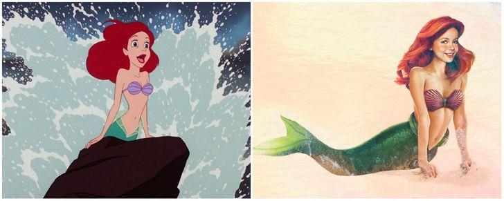 Tiên cá Ariel.