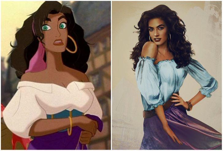 Esmeralda của phim Thằng Gù Nhà thờ Đức Bà.
