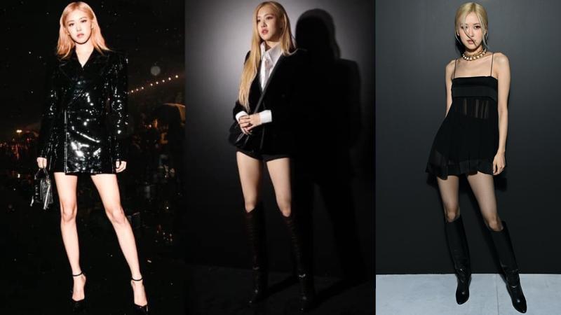 Sau 3 mùa Rosé dự show Saint Laurent, người hâm mộ thích thú khi thấy nữ idol theo xu hướng ngày càng kiệm vải. Từ chỗ mặc kín mít, nàng đại sứ giờ đã khoe vóc dáng rất tích cực.
