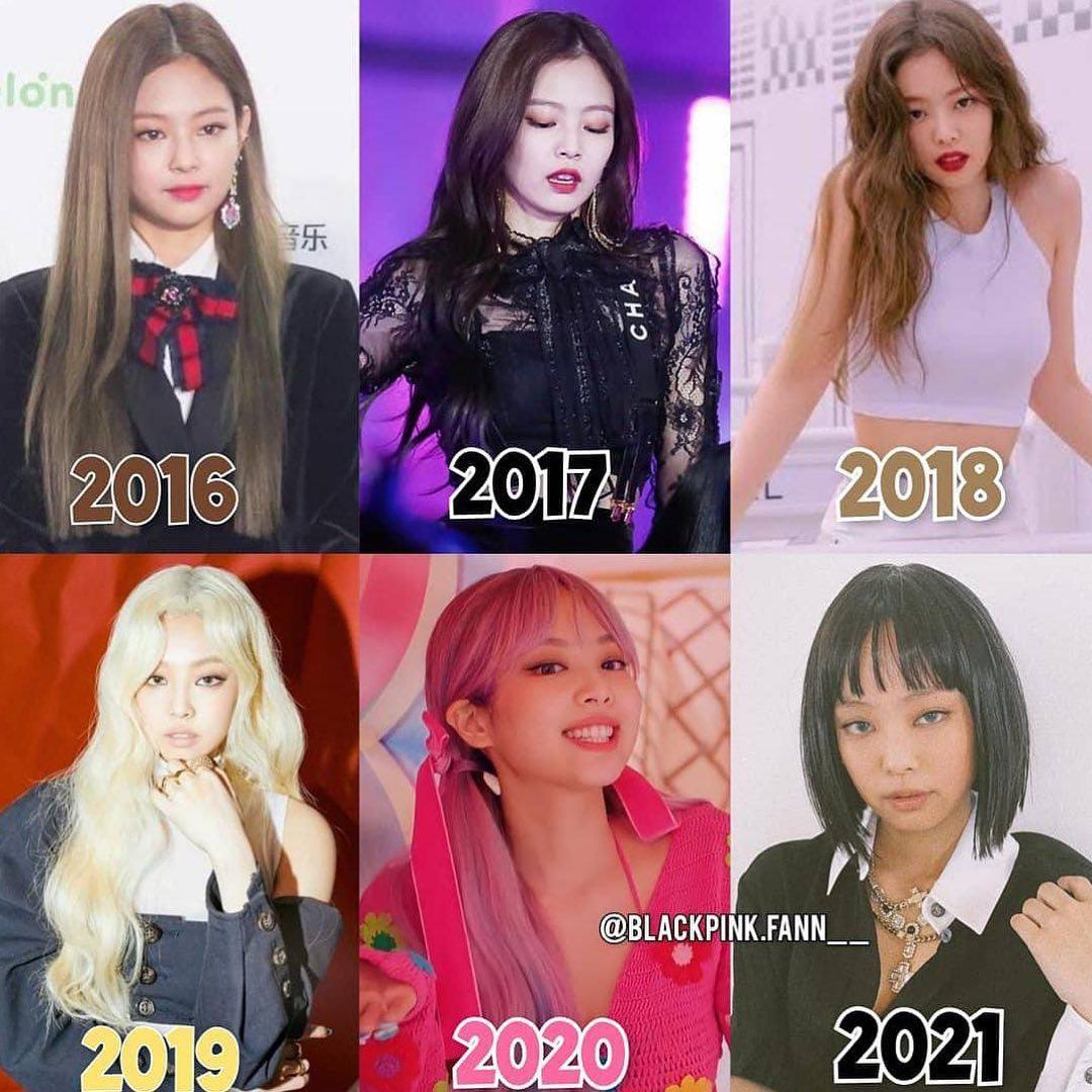 Jennie biến hóa như tắc kè hoa qua từng năm. Được mệnh danh là idol sang chảnh của nhóm, Jennie vẫn giữ vững danh hiệu này khi liên tục thử nghiệm những phong cách mới lạ. Theo thời gian, nữ idol ngày càng thích lối makeup, làm tóc đậm chất Tây. Tuy nhiên netizen cho rằng, vẻ đẹp của Jennie khi mới debut ngọt ngào, phù hợp với cô nàng hơn style sexy hiện tại.