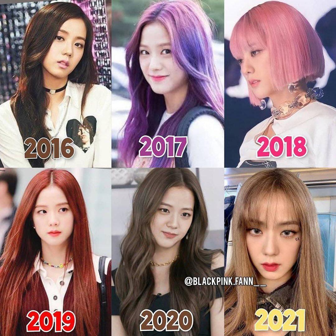 Ji Soo từng miệt mài thử nghiệm nhiều màu tóc, cách trang điểm từ khi debut đến nay. Thời gian đầu, nữ idol chưa tôn lên được vẻ đẹp nổi bật vì makeup không phù hợp. Hiện tại, với kiểu trang điểm sâu hút bí ẩn, Ji Soo xứng đáng là một trong những nữ thần Kpop.